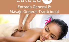Oferta Viaje Hotel Caldea: Entrada General + Masaje General Tradicional