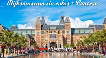 Oferta Viaje Hotel Amsterdam - Rijksmuseum sin colas + Crucero